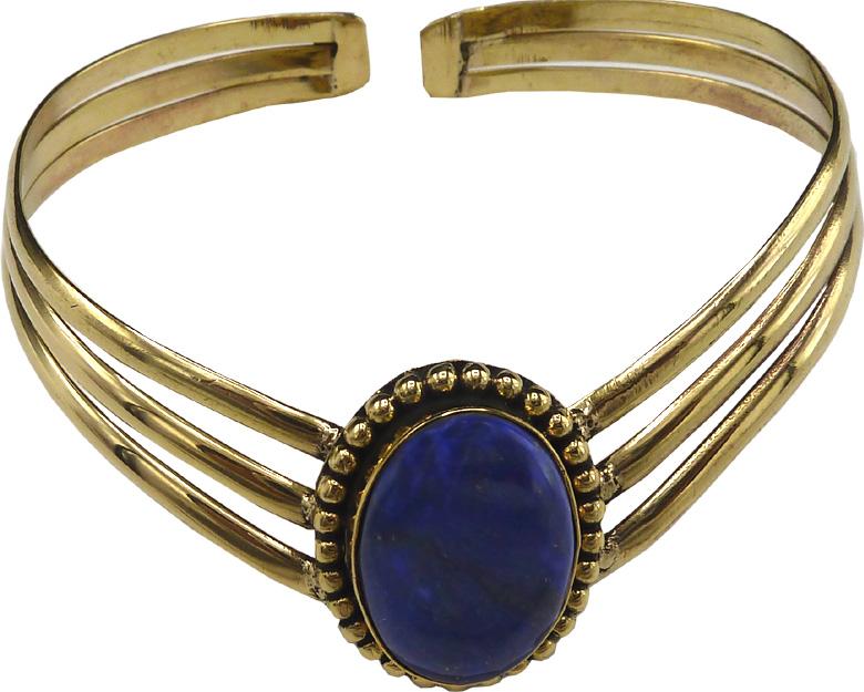 Bracelet bronze lapis lazuli