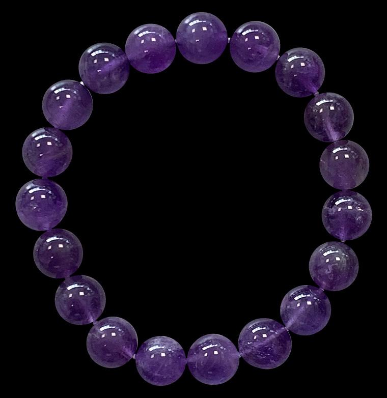 Bracelet Amethyste perles 10mm