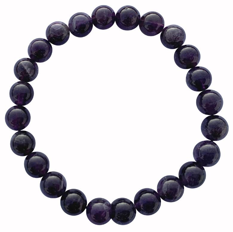Bracelet Amethyste AA urugway perles 8mm