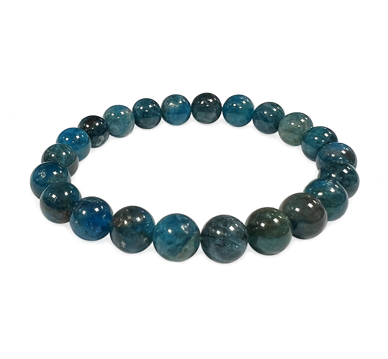 Apatite 8mm pearls bracelet