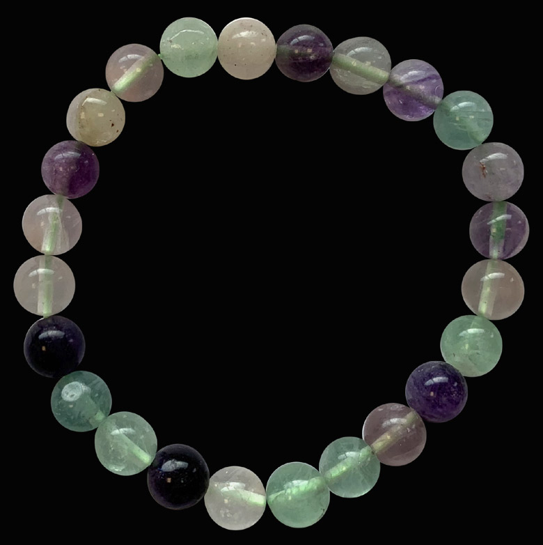 Bracelet fluorite multi perles 8mm