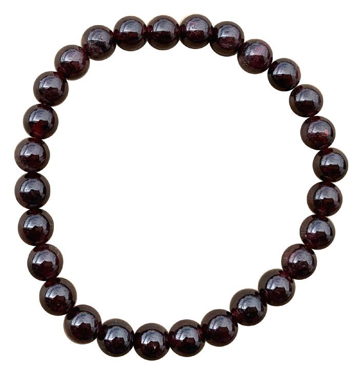 Bracelet Grenat Rouge extra perles 6mm