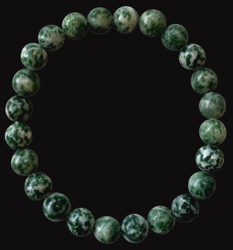 Bracelet jade verte perles 8mm