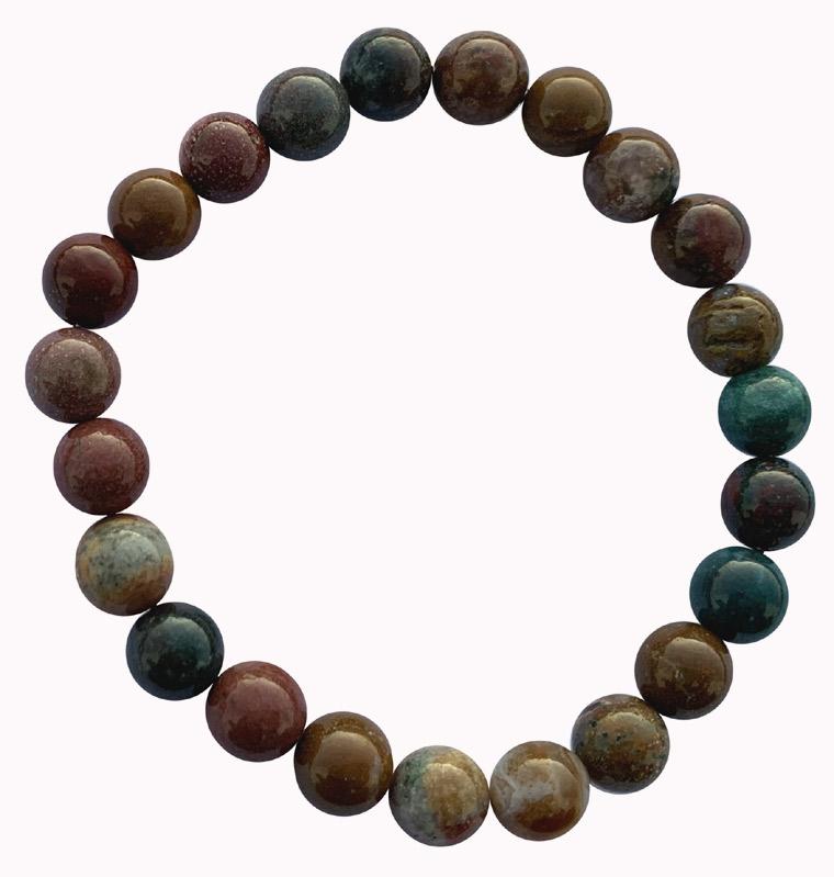 Bracelet Jaspe océanique perles 8mm