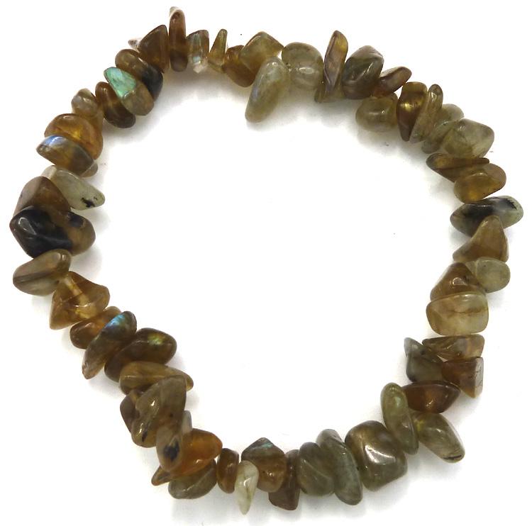 Bracelet Labradorite 'AA' chips 18cm