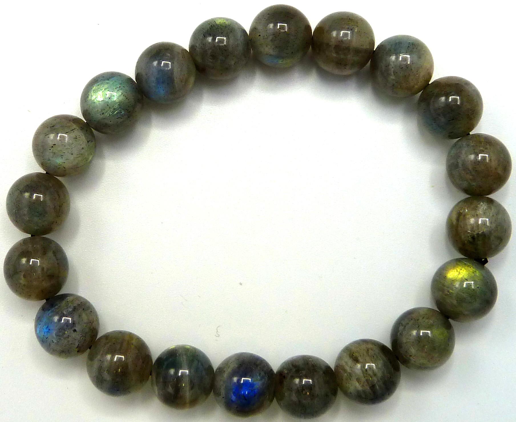Bracelet Labradorite 'AA' perles 10mm