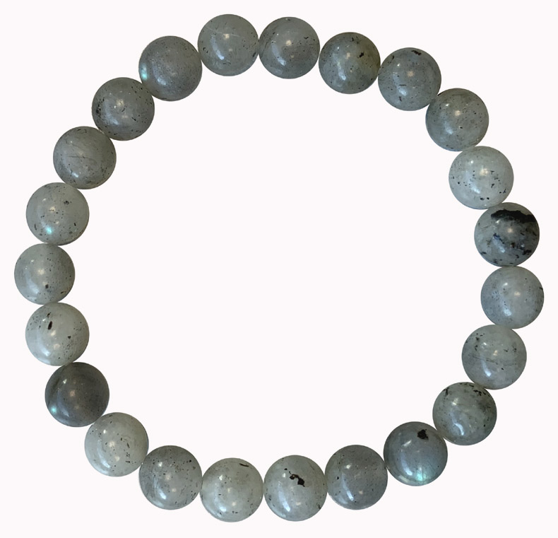 Bracelet Labradorite 'AA' perles 8mm