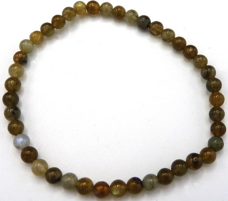 Bracelet Labradorite 'A' perles 4mm