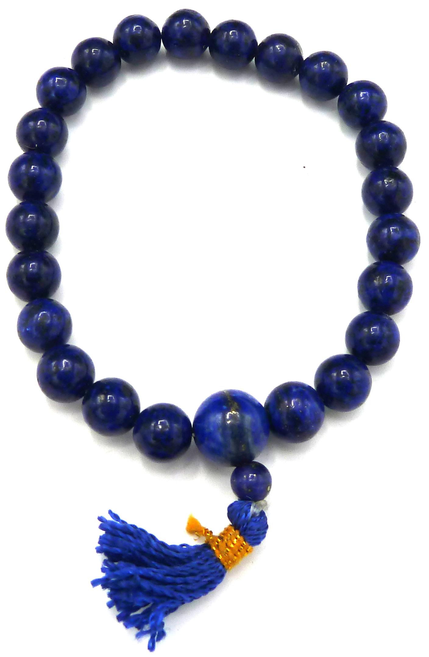 Bracelet Lapis Lazuli méditation perles teintées 8mm