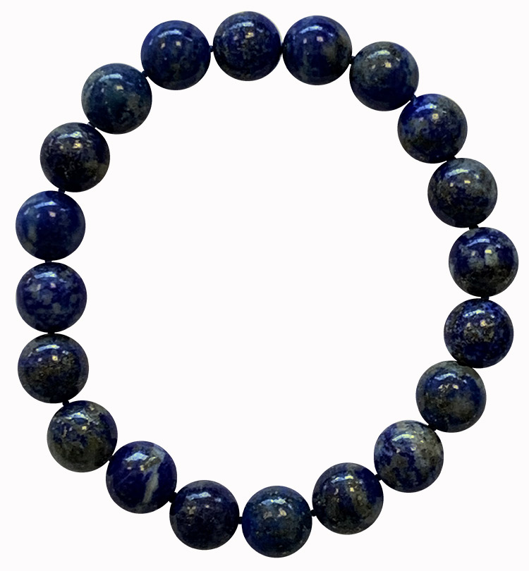 Bracelet Lapis Lazuli perles teintées 10mm