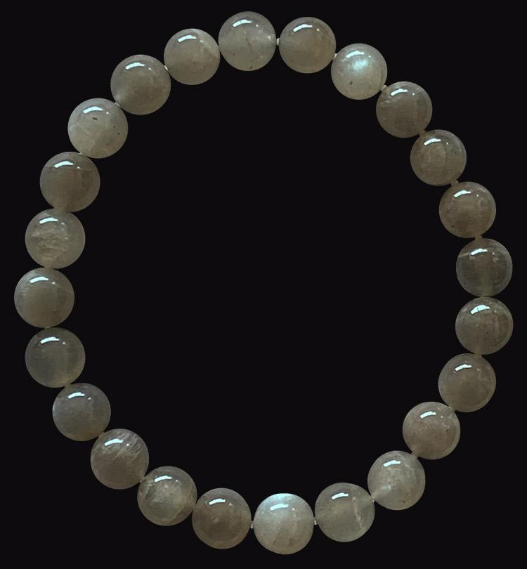 Gray Moonstone Bracelet A Beads 8mm