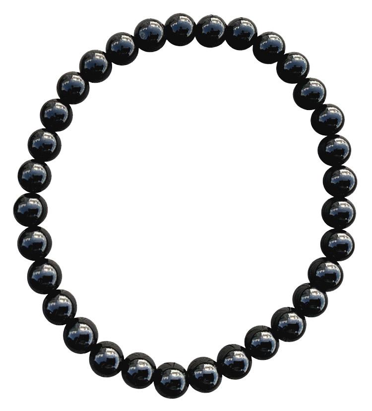 Bracelet Onyx perles 6mm