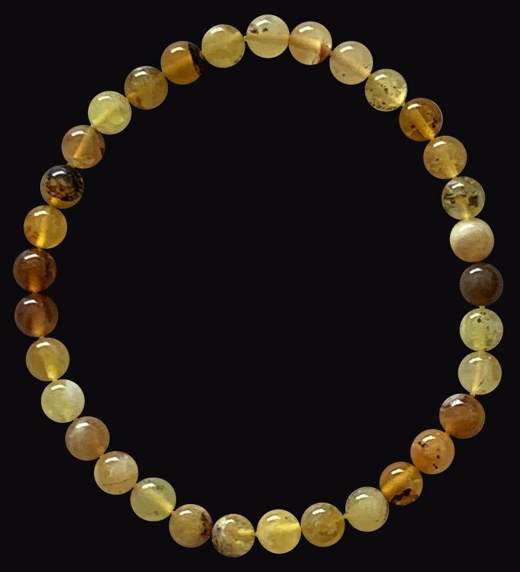 Bracelet Opale Jaune A perles 6mm