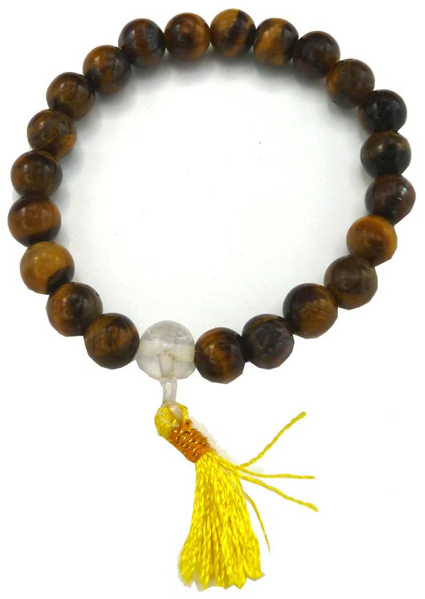 Bracelet Oeil de tigre Yoga perles 8mm