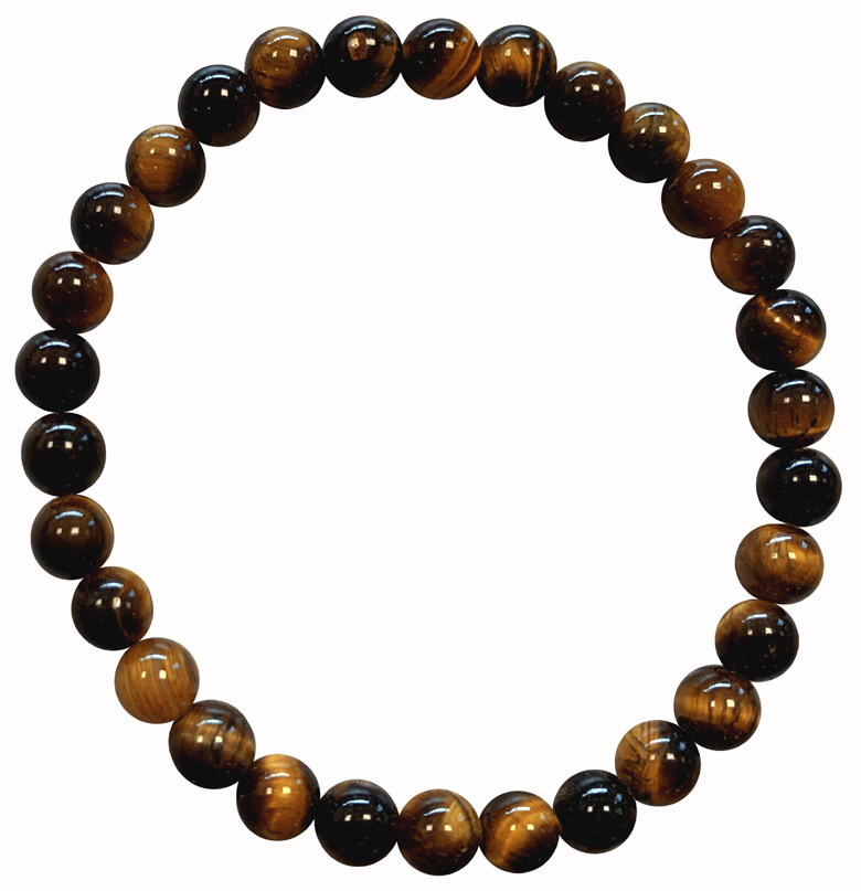 Bracciale Tiger Eye A perline 6mm