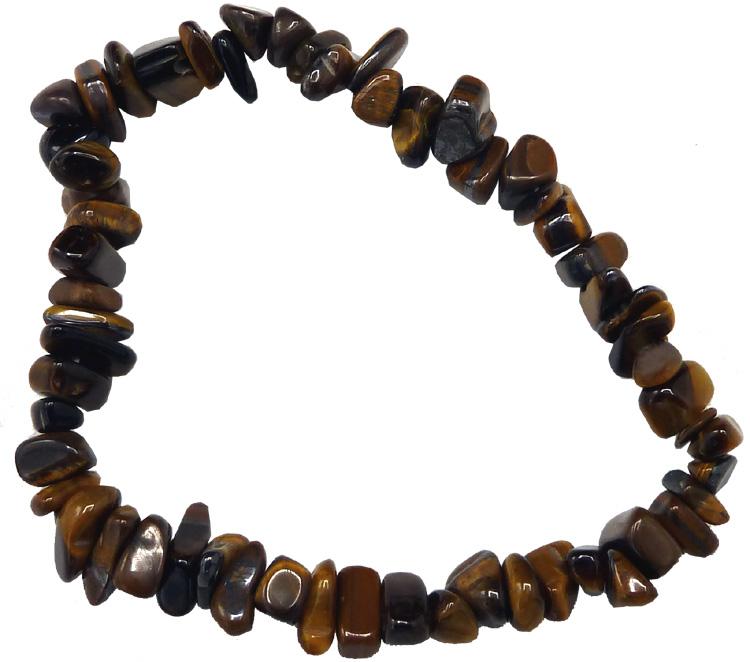 Bracelet oeil de tigre chips 18cm