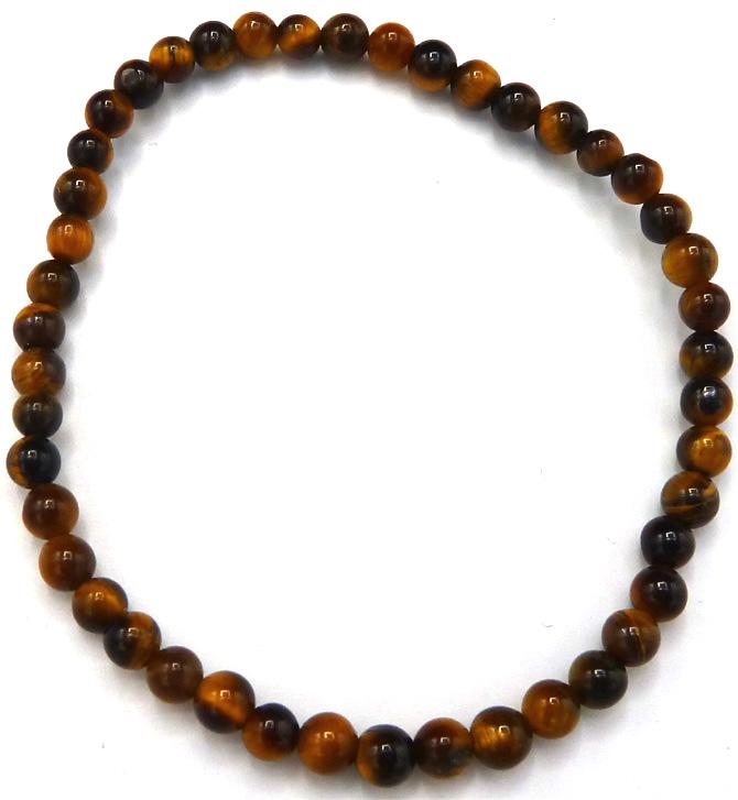 Bracelet oeil de tigre 'A' perles 4mm