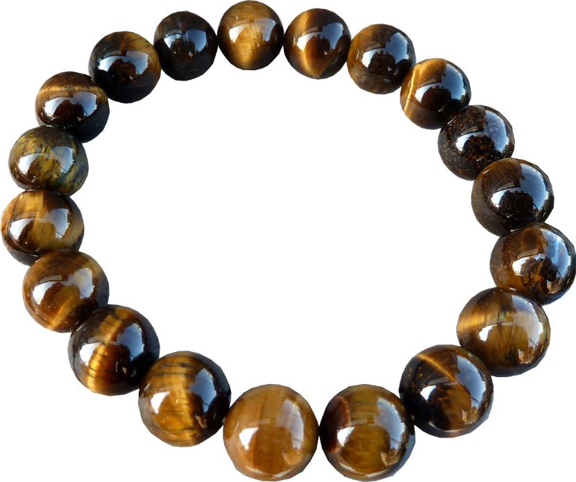 Bracelet oeil de tigre perles 10mm