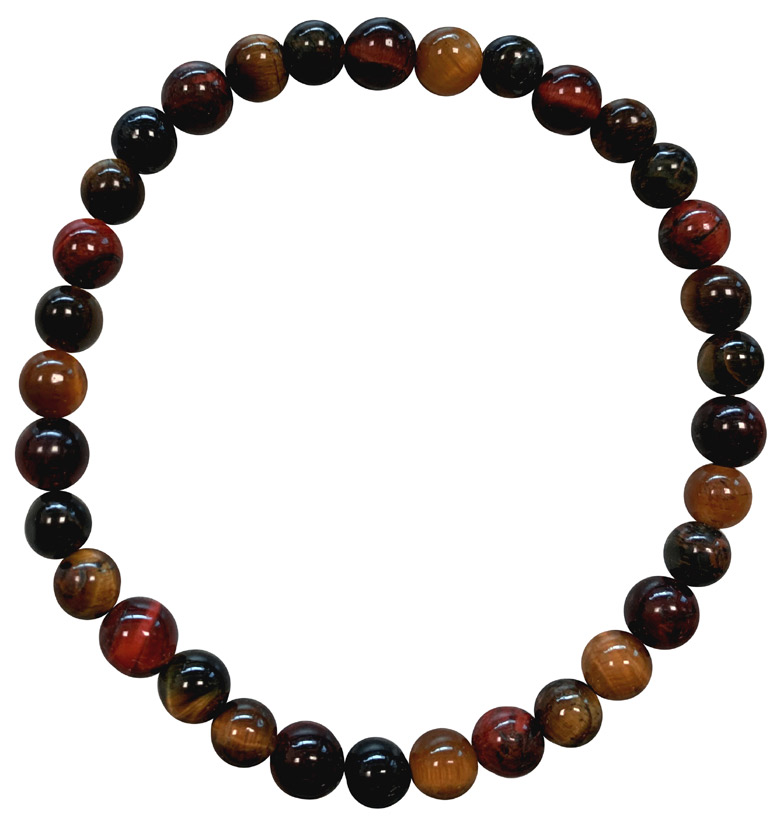 Multi Tiger eye A 6mm pearls bracelet