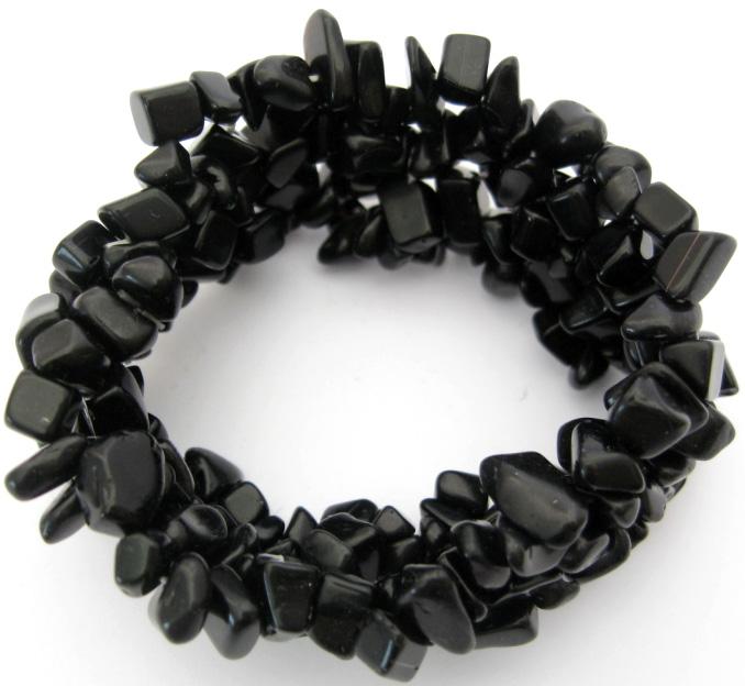 Bracelet baroque onyx noir