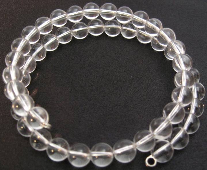 Double bracelet cristal de roche 'AA' perles 8mm