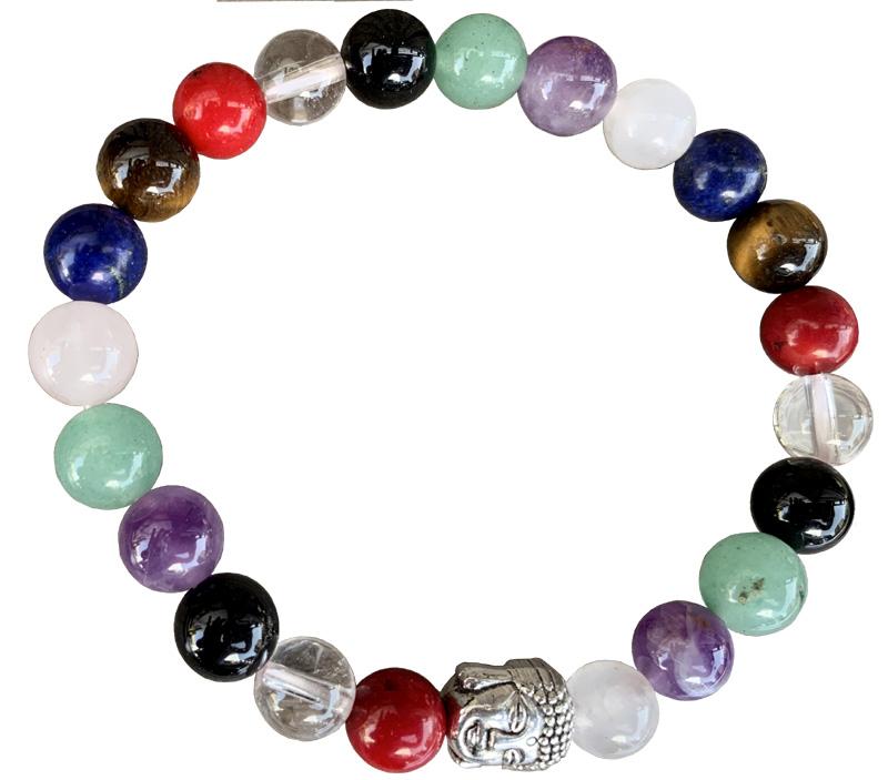 Bracelet mix perles & Bouddha perles 8mm