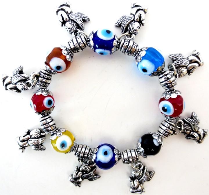 Bracelet anges contre le mauvais oeil x6