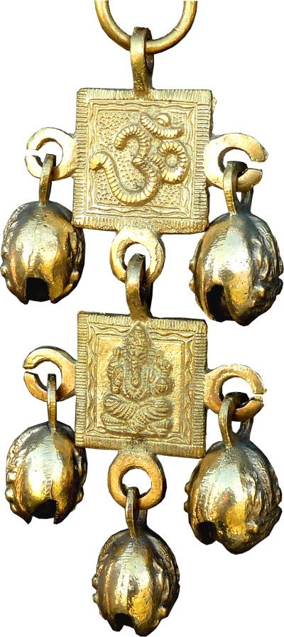 Mobile ganesh & OM bronze 23cm