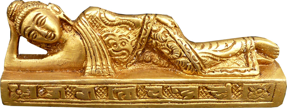 Bouddha couché bronze 10cm