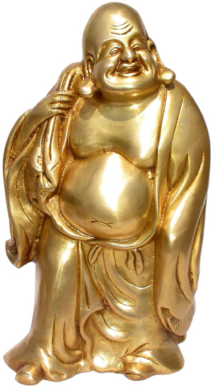 Brass laughing buddha 32cm