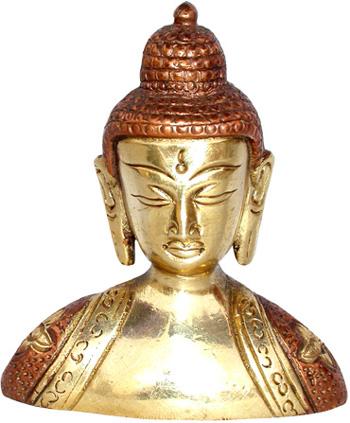 Buste de bouddha tibet en bronze 8.5cm