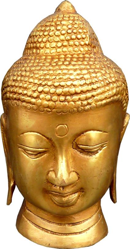Tête de bouddha tibétain bronze 12cm