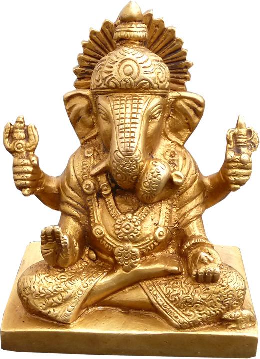 Ganesh meditation en bronze 12cm