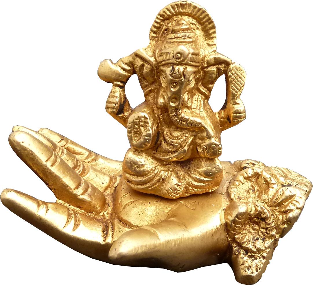 Ganesh sur main en bronze 7.5cm