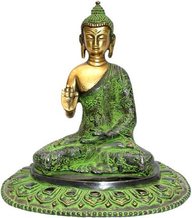 Bouddha siddhartha tibet en bronze 17cm