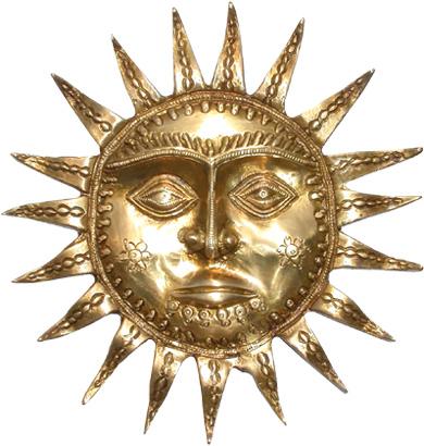 Soleil en bronze 21cm