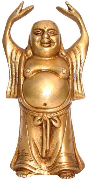 Happy bouddha bronze 15.5cm