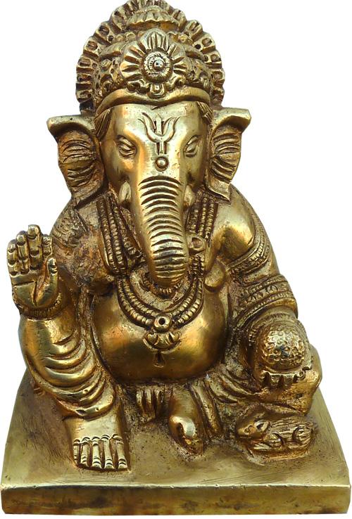 Ganesh assis bronze 11cm