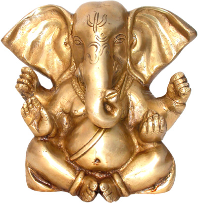 Ganesh assis en bronze 13cm