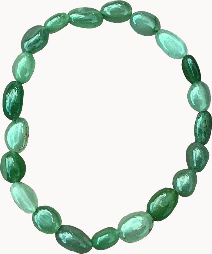 Bracelet Aventurine Verte pierres roulées