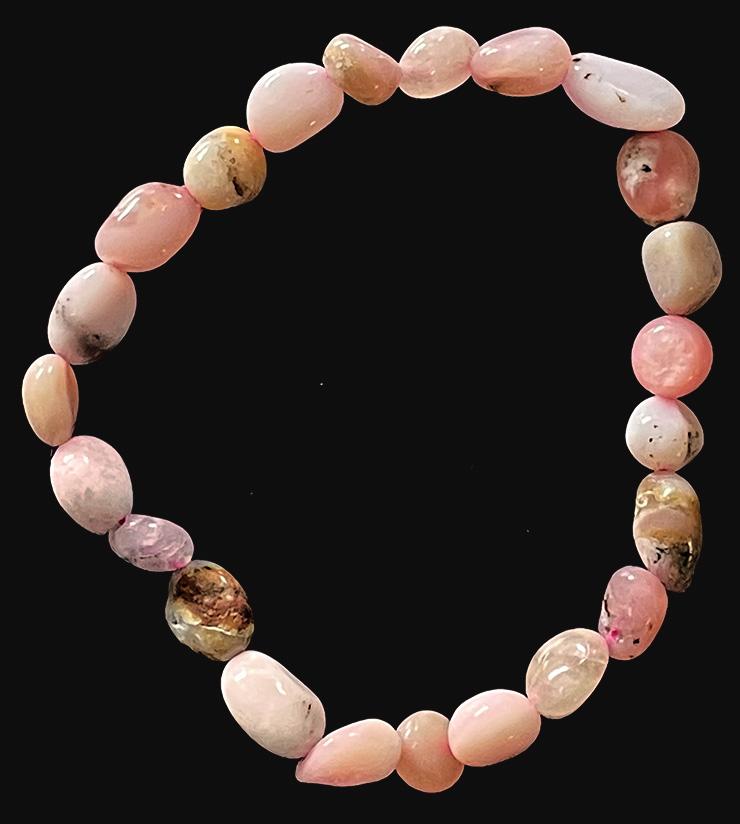 Bracelet Opale Rose pierres roulées