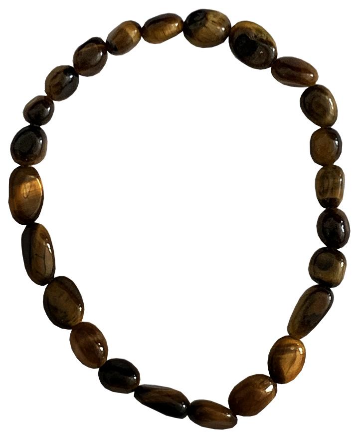 Bracelet Oeil du tigre A pierres roulées