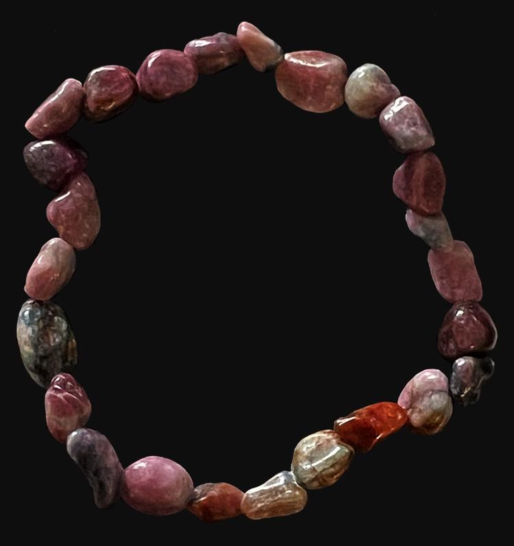 Bracelet Rubis Saphir pierres roulées