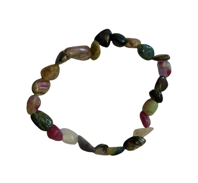 Bracelet tourmaline multicolor A pierres roulées