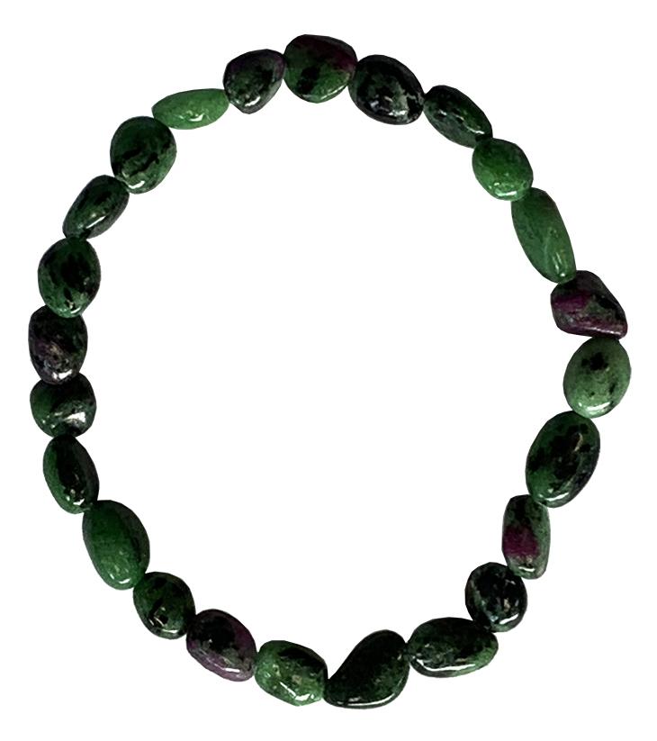 Bracelet Rubis Zoïsite A pierres roulées
