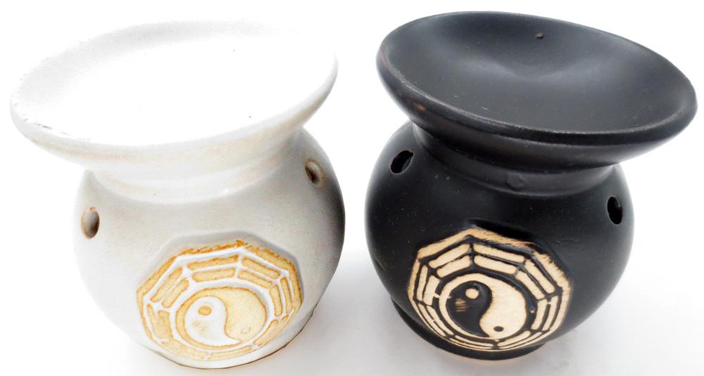 Set de 6 brûleurs ronds ying yang 8cm