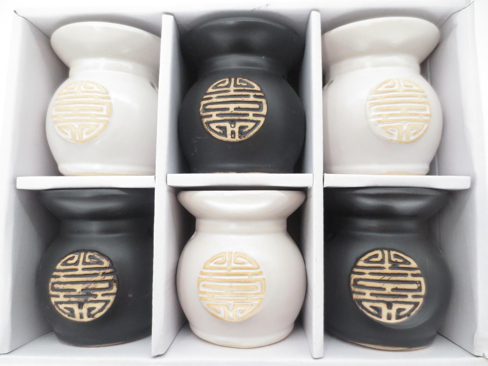 Set de 6 brûleurs signe chinois 8cm