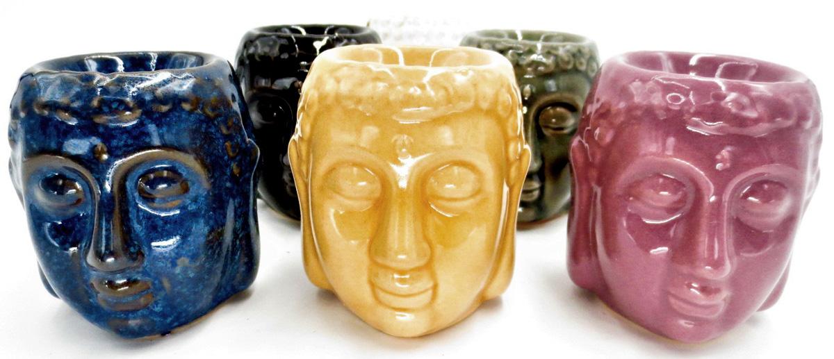 Set de 6 brûleurs ronds tete de buddha 6 couleurs 8cm