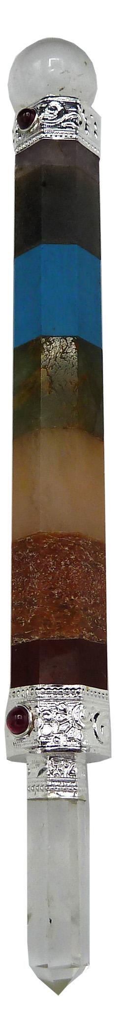 Bâton de soin 7 chakras 15cm