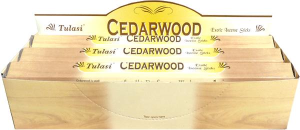 Incense tulasi sarathi cedar wood hex 20g